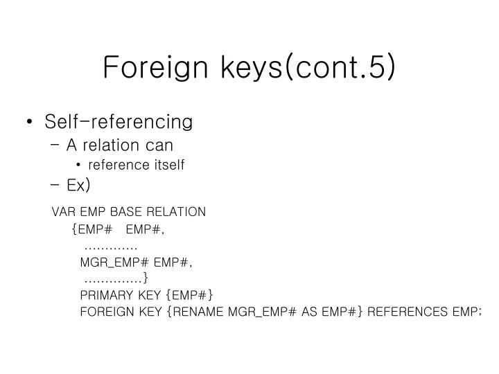 Foreign keys(cont.5)