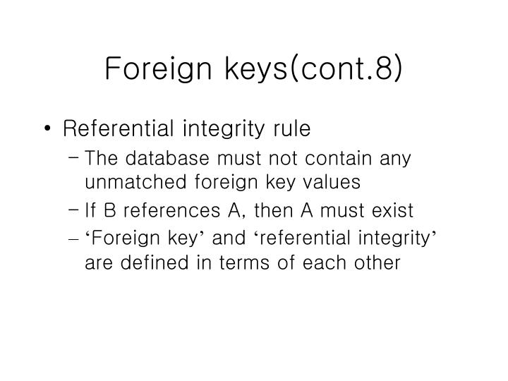Foreign keys(cont.8)