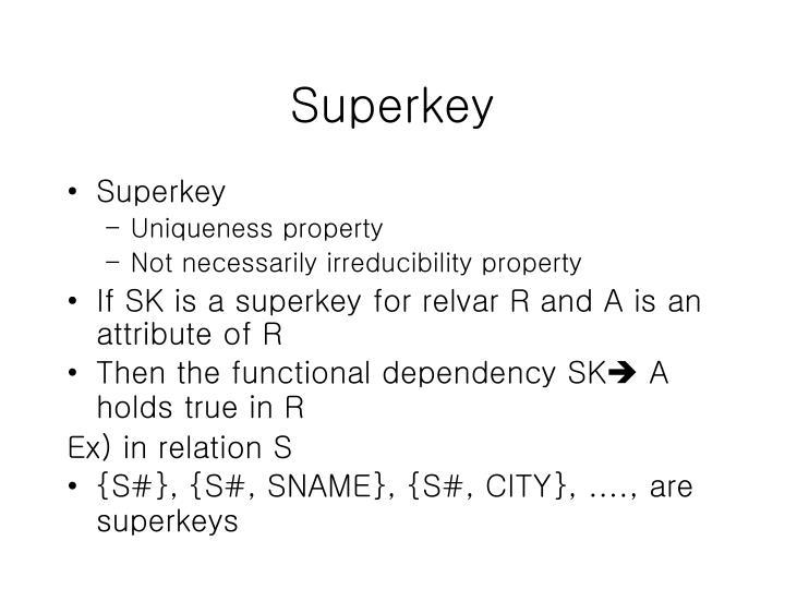 Superkey
