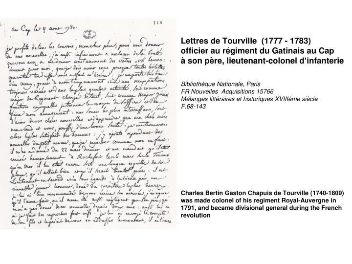 Lettres de Tourville
