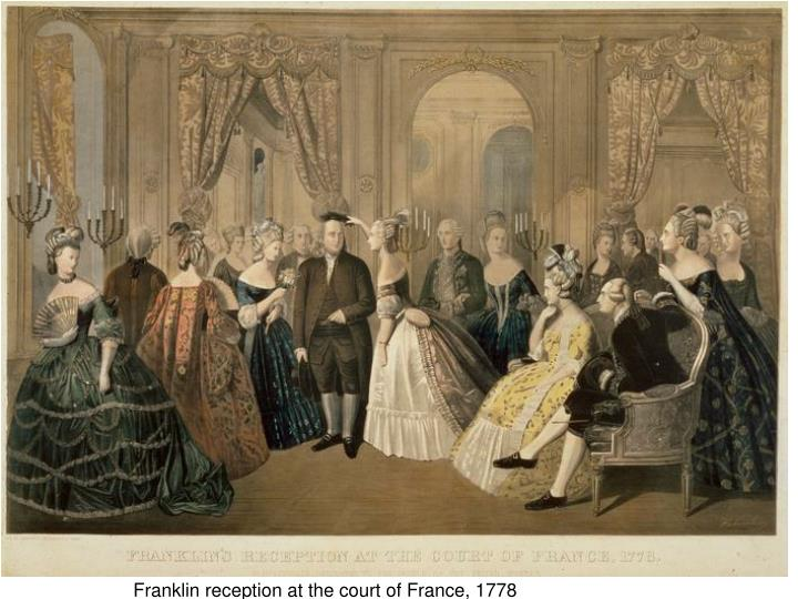 Franklin reception at the court of France, 1778