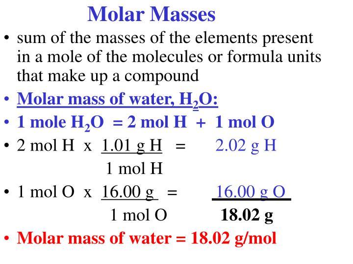 Molar Masses