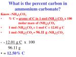 what is the percent carbon in ammonium carbonate