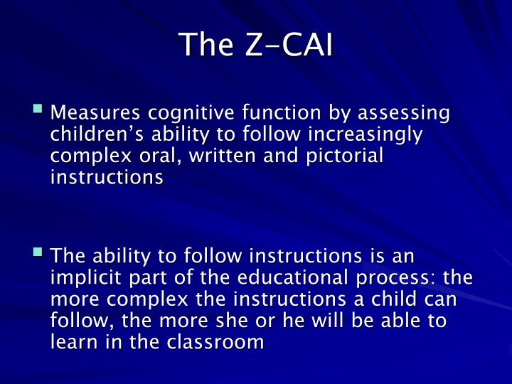 The Z-CAI