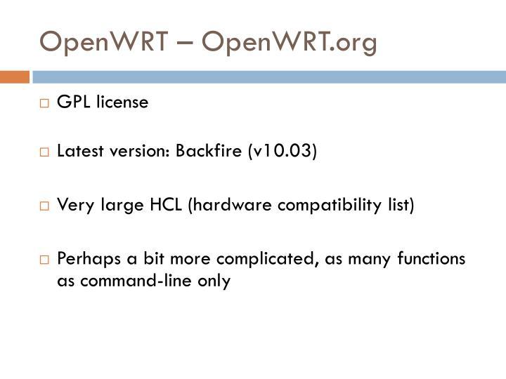 OpenWRT – OpenWRT.org