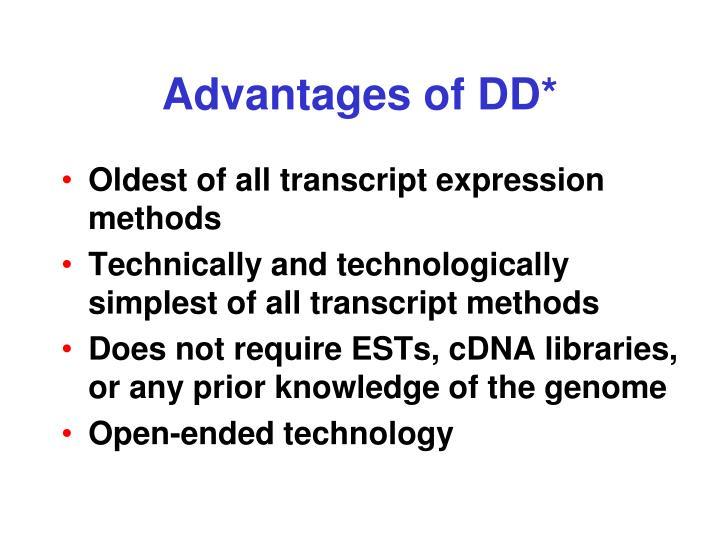Advantages of DD*