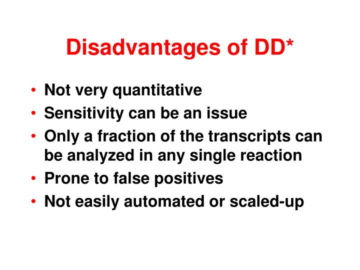 Disadvantages of DD*
