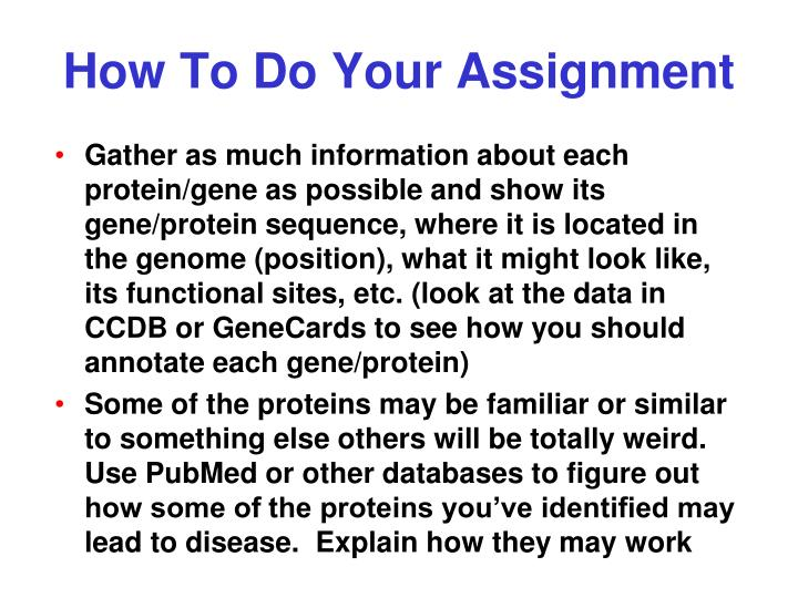How To Do Your Assignment