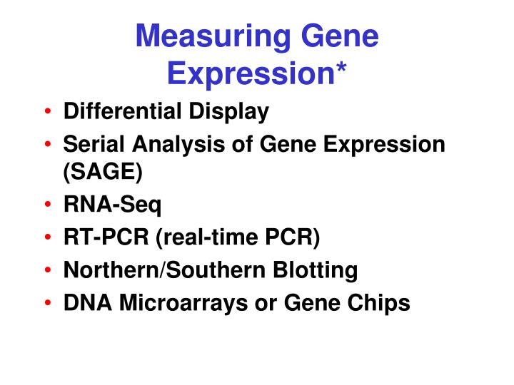 Measuring Gene Expression*