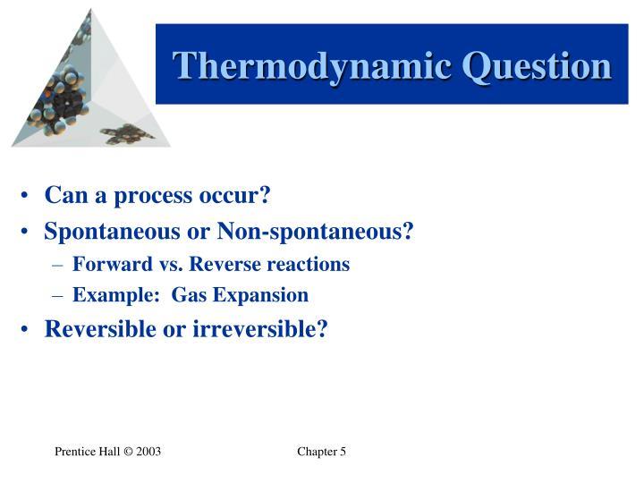 Thermodynamic Question