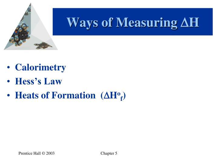 Ways of Measuring