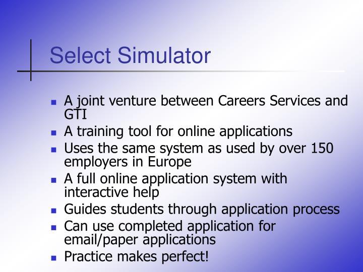 Select Simulator
