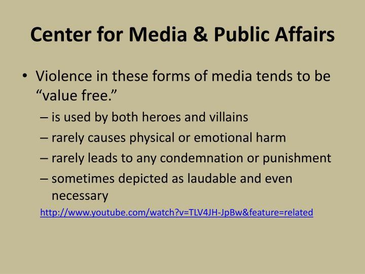 Center for Media & Public Affairs