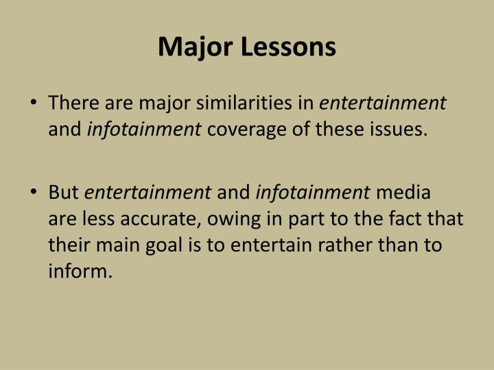 Major Lessons