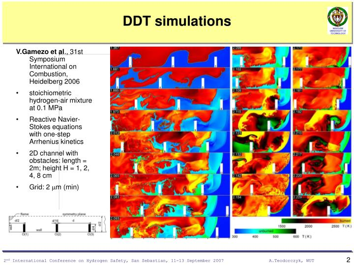 Ddt simulations