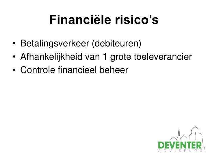Financiële risico's