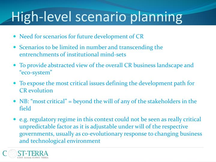 High-level scenario planning