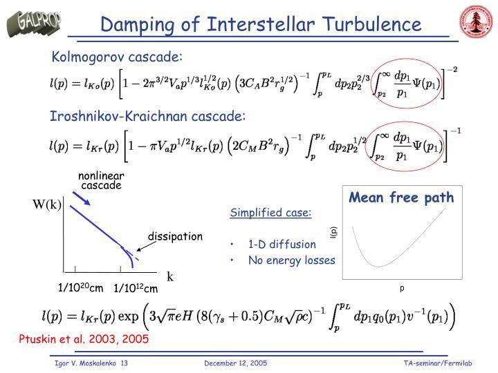 Damping of Interstellar Turbulence