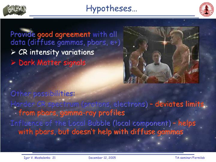 Hypotheses…