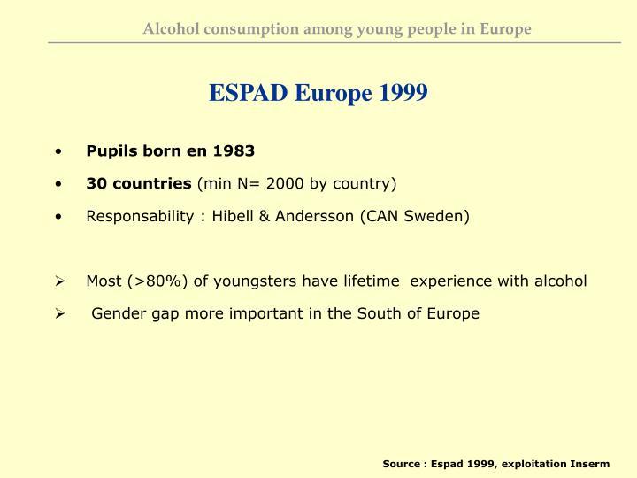 ESPAD Europe 1999