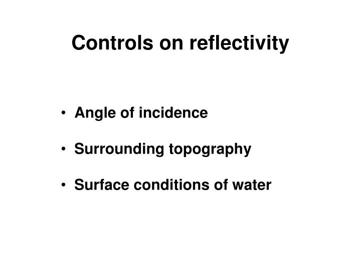 Controls on reflectivity