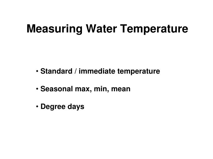 Measuring Water Temperature