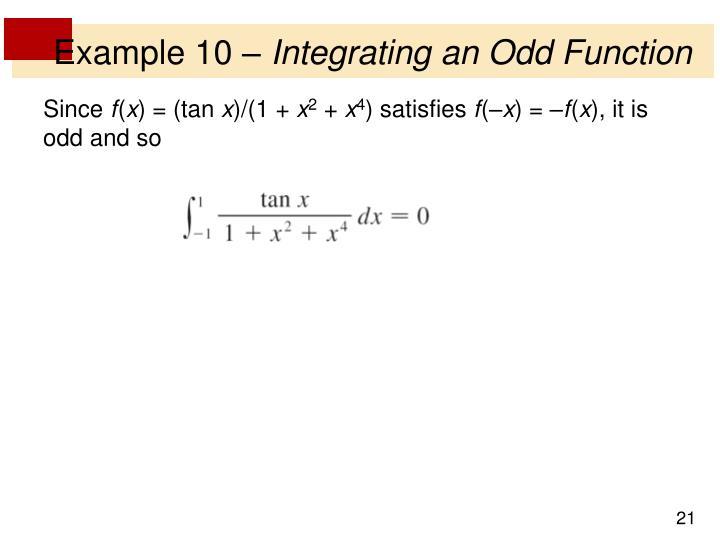 Example 10 –