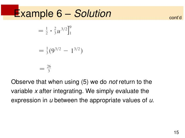 Example 6 –