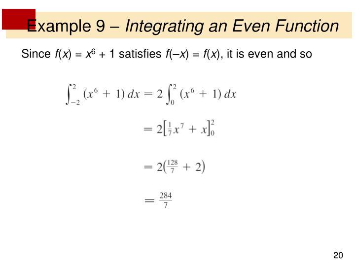 Example 9 –