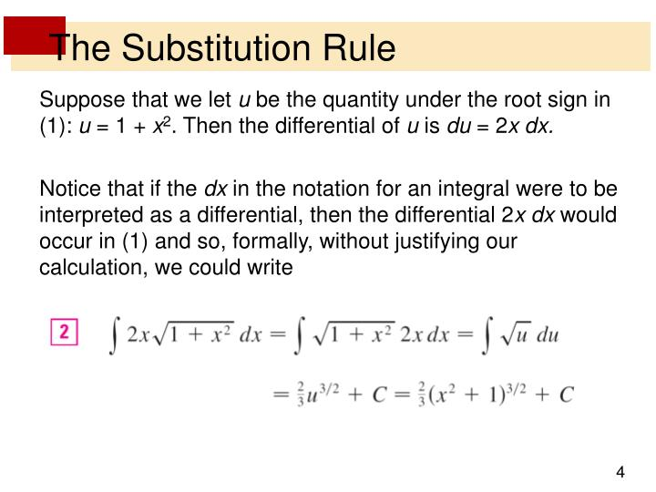 The Substitution Rule