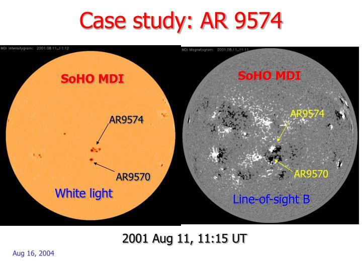 Case study: AR 9574