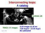 interconnecting loops a catalog