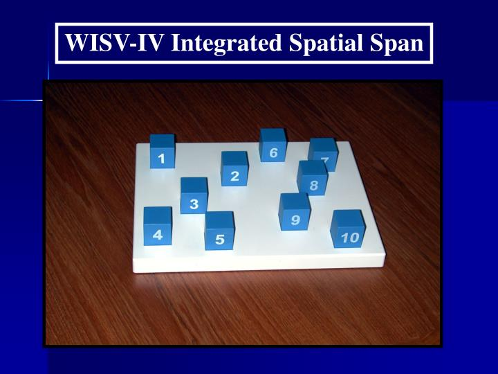 WISV-IV Integrated Spatial Span