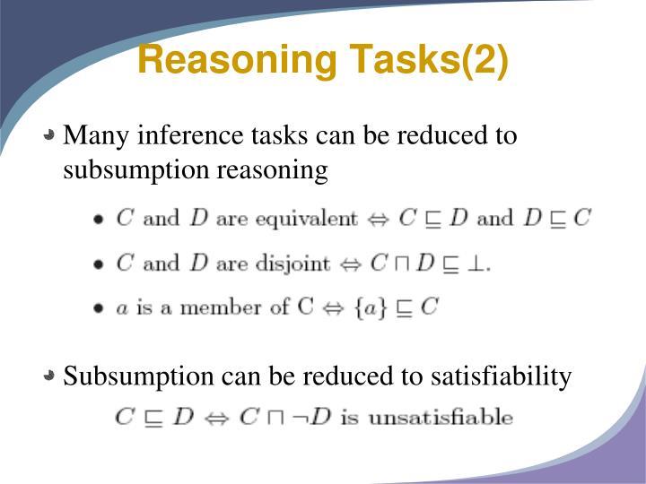 Reasoning Tasks(2)