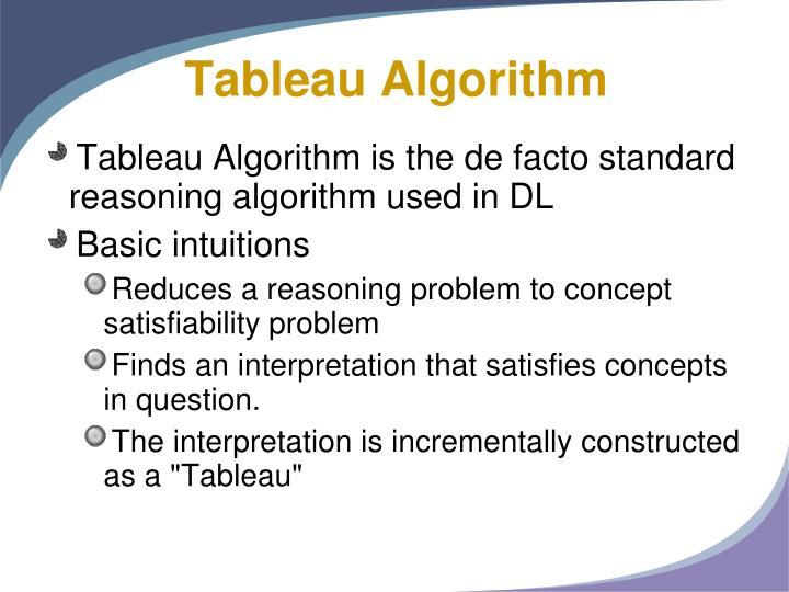 Tableau Algorithm