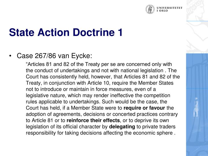 State Action Doctrine 1