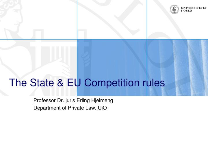 The State & EU Competition rules