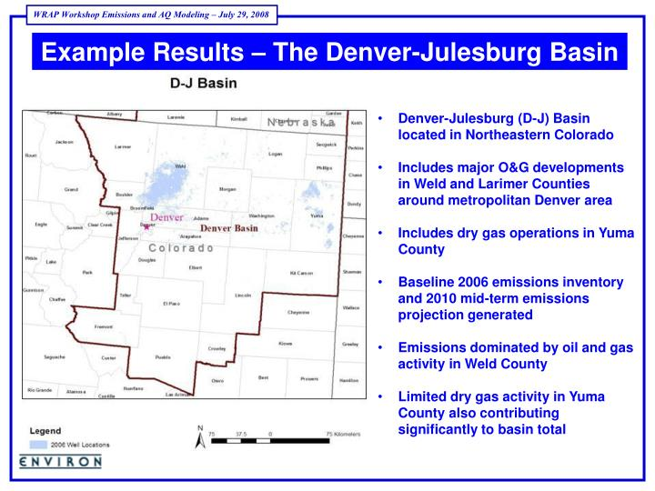 Example Results – The Denver-Julesburg Basin