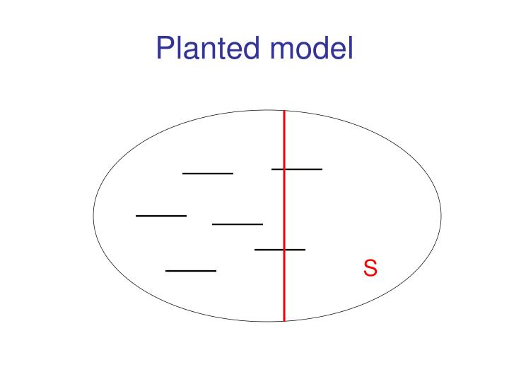 Planted model