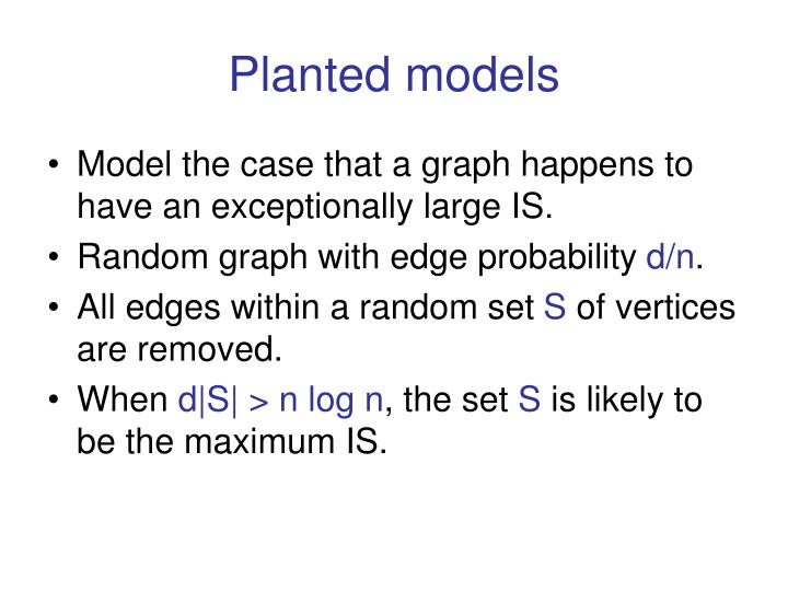 Planted models