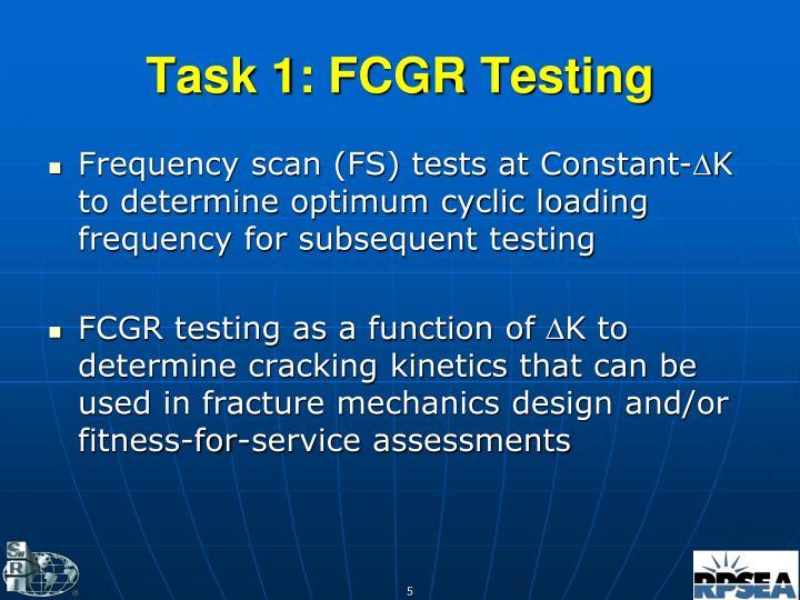 Task 1: FCGR Testing