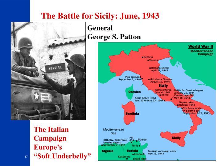 The Battle for Sicily: June, 1943