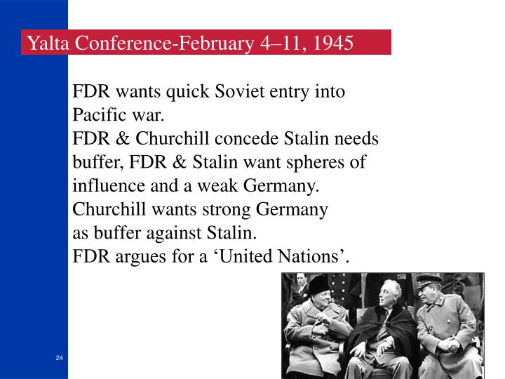 Yalta Conference-February 4–11, 1945