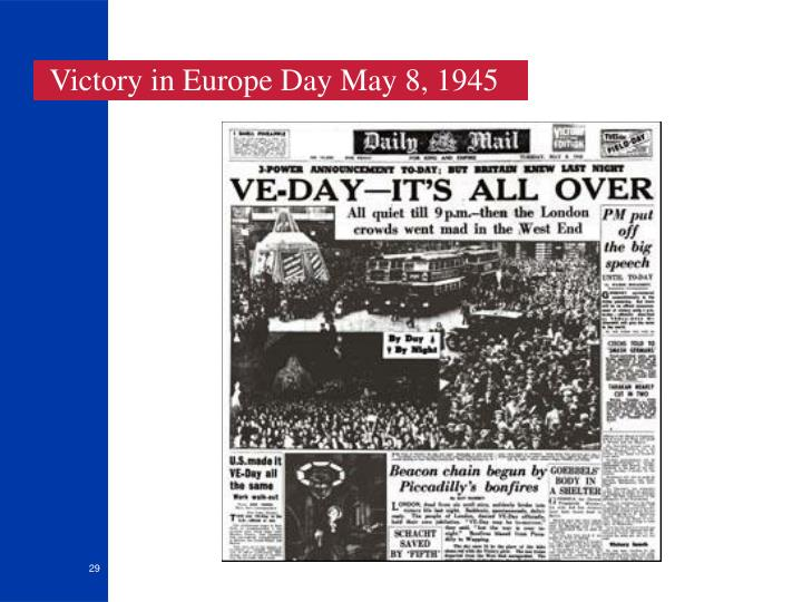 Victory in Europe Day May 8, 1945