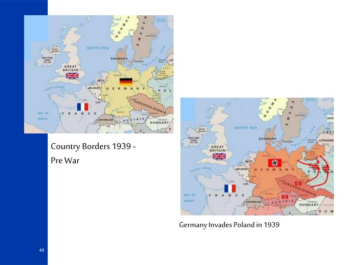 Country Borders 1939 - Pre War