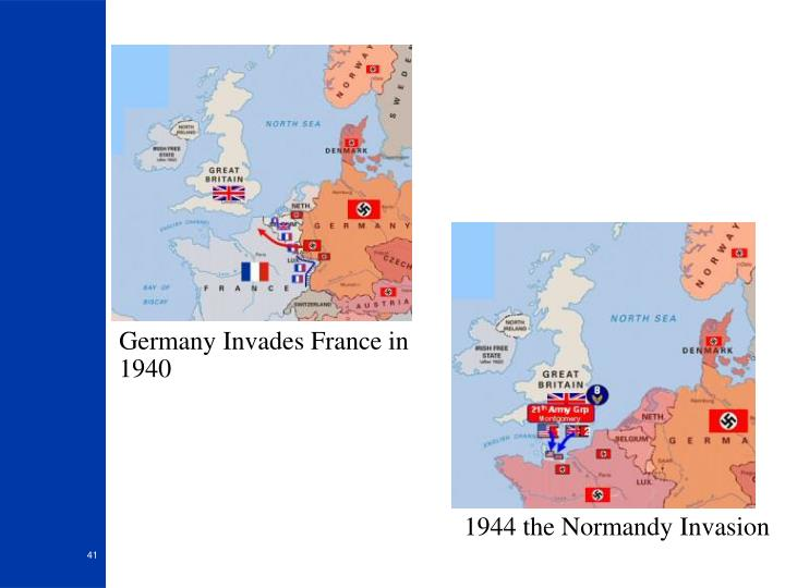 Germany Invades France in 1940