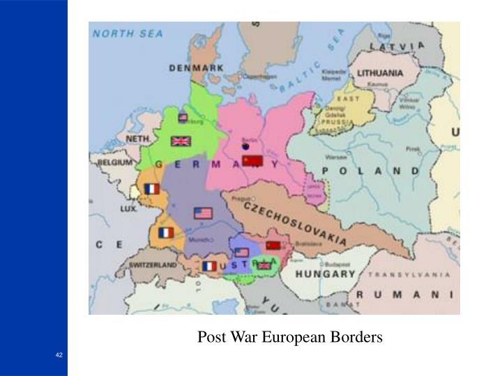 Post War European Borders