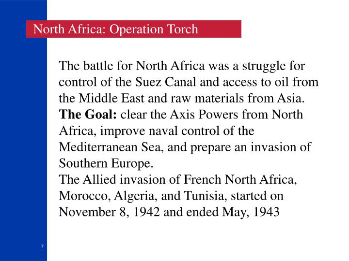 North Africa: Operation Torch