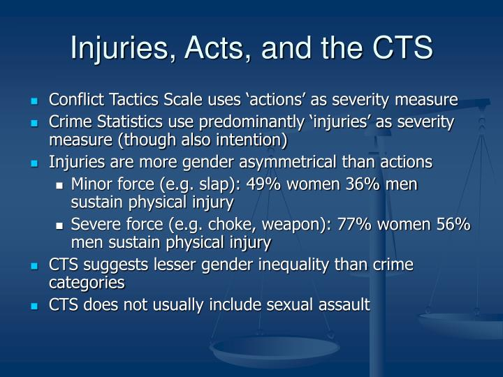 Injuries, Acts, and the CTS