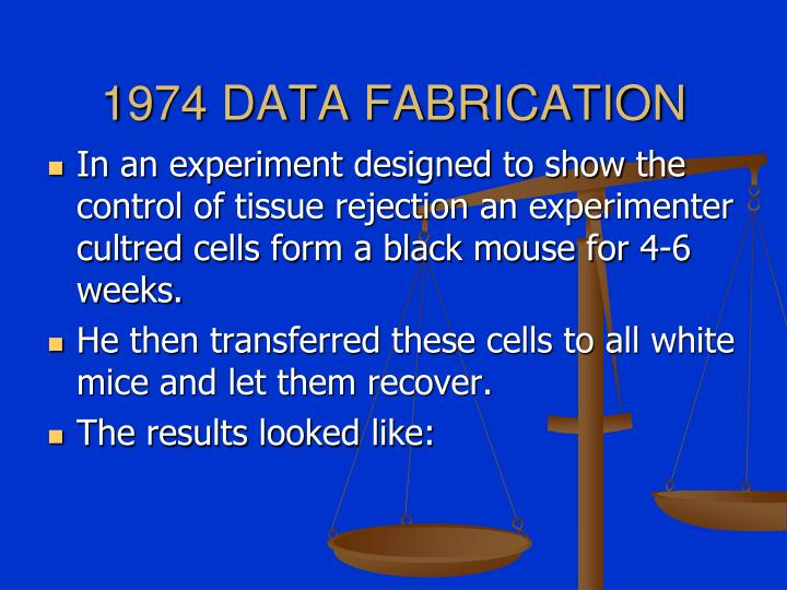 1974 DATA FABRICATION